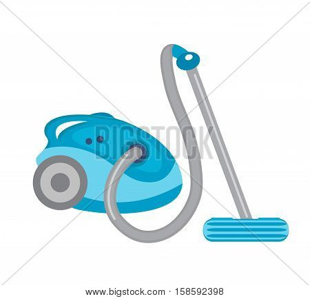 Vacuum cleaner icon vector flat style. Vacuum cleaner isolated on white background. Vector illustration