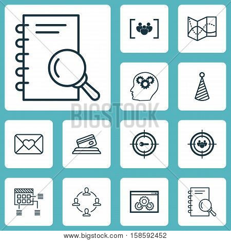 Set Of 12 Universal Editable Icons. Can Be Used For Web, Mobile And App Design. Includes Icons Such As Analysis, Questionnaire, Road Map And More.
