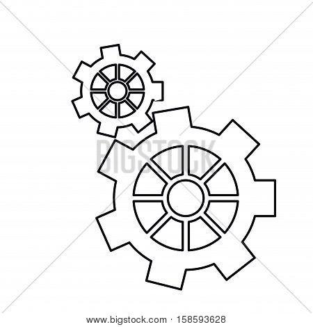 pictogram gear wheel engine machine icon vector illustration eps 10