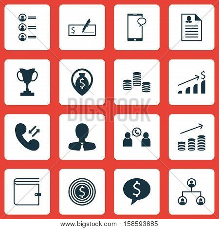 Set Of Human Resources Icons On Money, Job Applicants And Bank Payment Topics. Editable Vector Illustration. Includes Cellular, Mobile, Male And More Vector Icons.