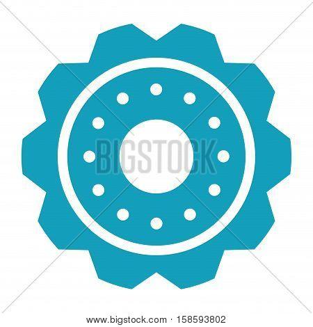 blue gear wheel engine cog icon vector illustration eps 10