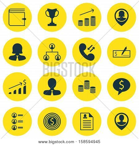 Set Of Hr Icons On Manager, Job Applicants And Cellular Data Topics. Editable Vector Illustration. Includes Profile, Success, Goal And More Vector Icons.