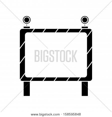 barricade safety maintenance work pictogram vector illustration eps 10