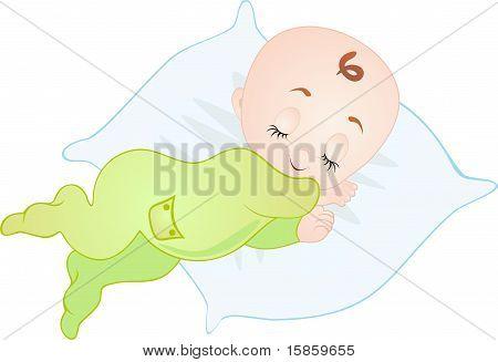 Sleeping Baby. Vector