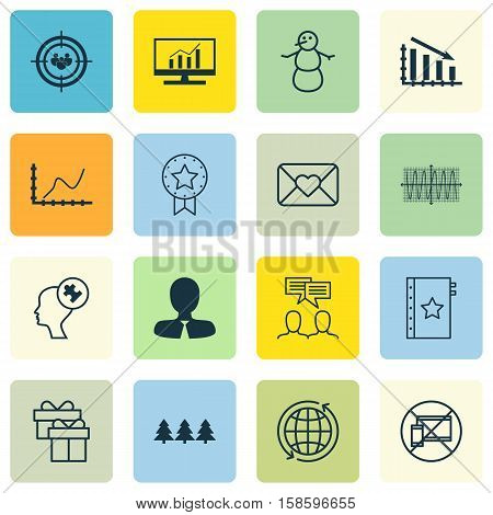 Set Of 16 Universal Editable Icons. Can Be Used For Web, Mobile And App Design. Includes Icons Such As World, Market Research, Forbidden Mobile And More.