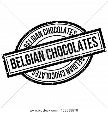 Belgian Chocolates Rubber Stamp