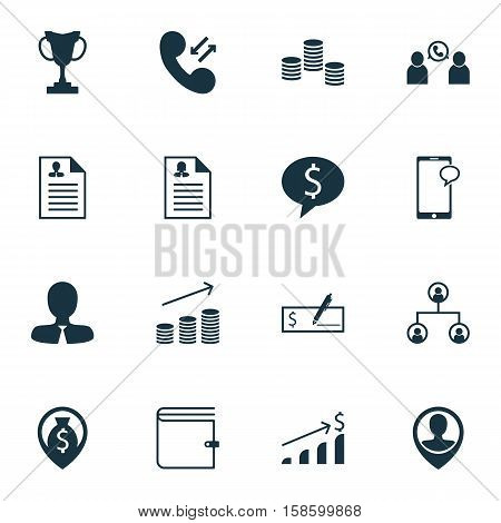 Set Of Management Icons On Money, Cellular Data And Wallet Topics. Editable Vector Illustration. Includes Purse, Wallet, Cash And More Vector Icons.