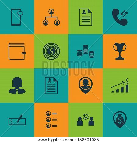 Set Of Human Resources Icons On Bank Payment, Successful Investment And Tournament Topics. Editable Vector Illustration. Includes Growth, List, Trophy And More Vector Icons.