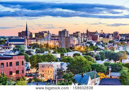 Portland, Maine, USA downtown skyline.