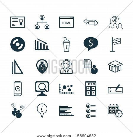 Set Of 25 Universal Editable Icons. Can Be Used For Web, Mobile And App Design. Includes Icons Such As Blank Cd, Measurement, Pin And More.