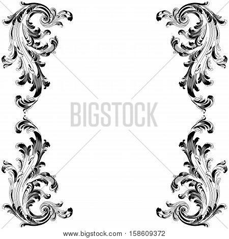 Vintage frame pattern, border frame pattern, engraving frame pattern, ornament  frame pattern, pattern frame, antique frame pattern, baroque frame pattern, decorative frame pattern. Vector.
