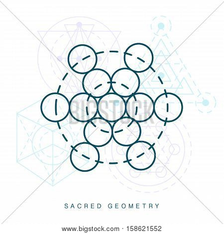 Sacred geometry sign. Linear Modern Art. Alchemy religion spirituality symbol, logotype