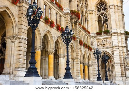 Facade Of City Hall In Vienna, Rathaus, Austria