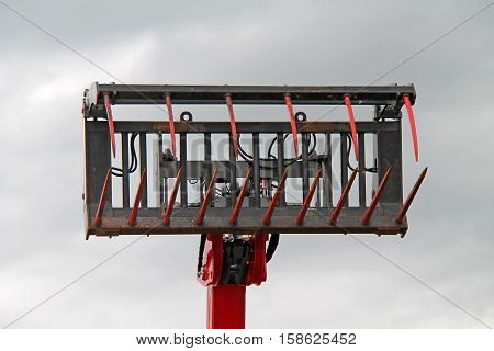 An Hydraulically Operated Agricultural Grapple Fork Grab.