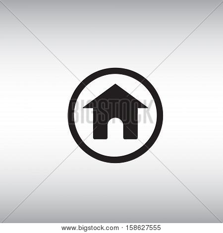 Home flat vector sign. Isolated homepage vector icon illustration. Back to homepage button icon.