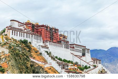 the view of the Potala Palace in Tibet