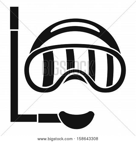 Diving mask icon. Simple illustration of diving mask vector icon for web