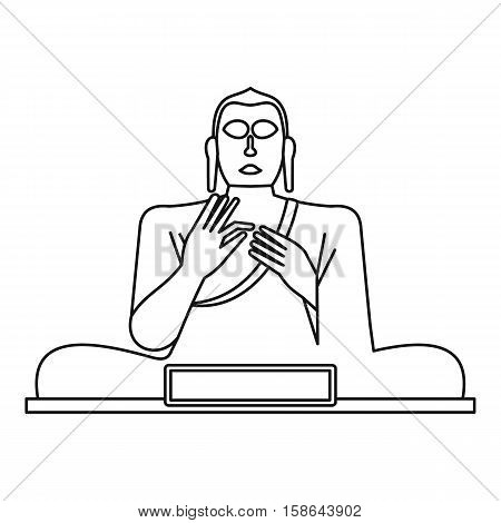Statue of Buddha icon. Outline illustration of Buddha statue vector icon for web