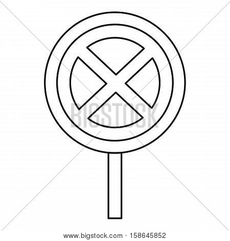 Clearway sign icon. Outline illustration of clearway sign vector icon for web