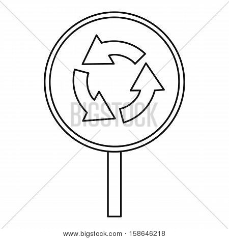 Circular motion traffic sign icon. Outline illustration of circular motion traffic sign vector icon for web