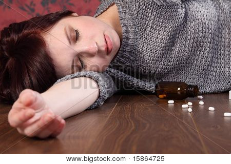 Teenage Girl Suicide Victim Overdose On Pills