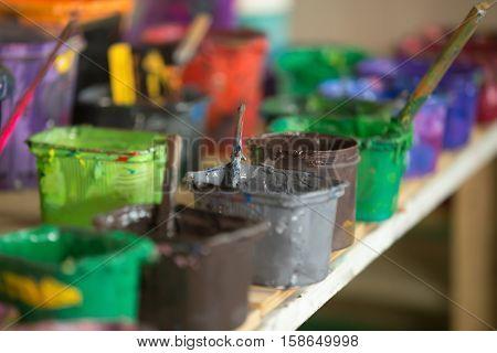 Close-up Of Silk Screen Printing Ink