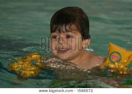 Young Floating Boy With Floaters