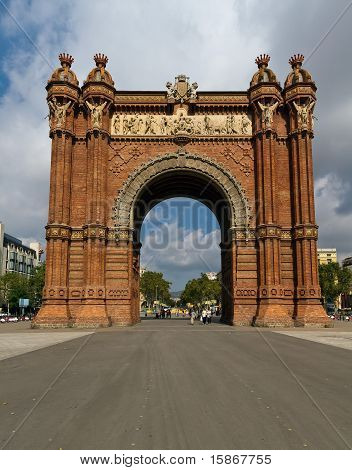 Arco de triunfo de Barcelona España