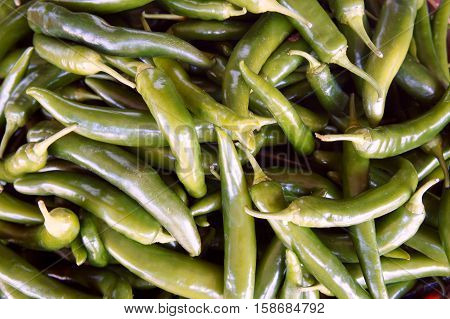 A Heap of Jalapeño Peppers at the Farmer's Market