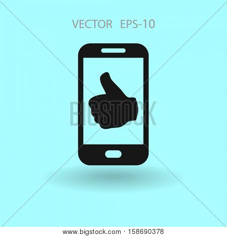 Flat icon of smartphone. vector illustration