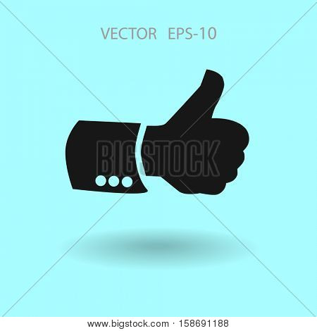 Flat icon of ok. vector illustration
