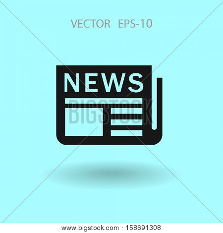 Flat  icon of news. vector illustration