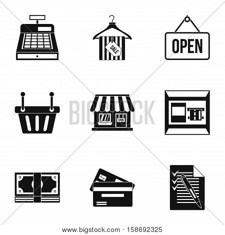 Online purchase icons set. Simple illustration of 9 online purchase vector icons for web