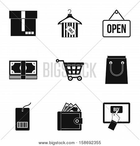 Purchase icons set. Simple illustration of 9 purchase vector icons for web