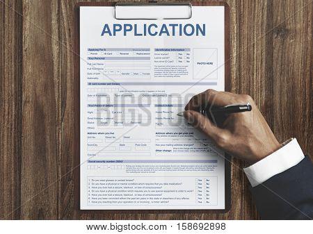 Application Information Employment Concept