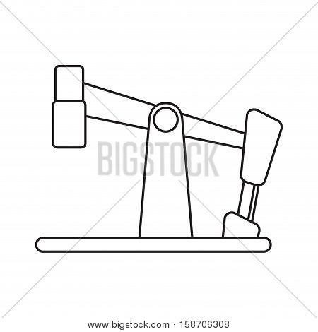 oil pump drilling petroleum industry pictograph vector illustration eps 10