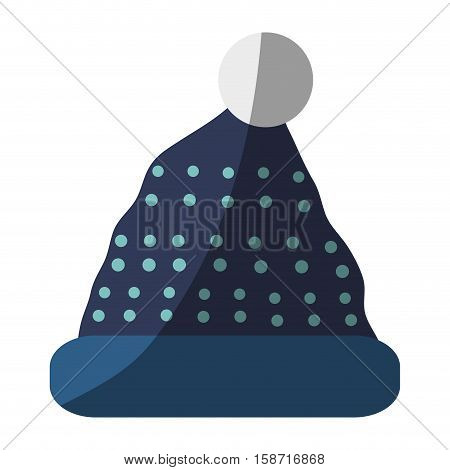 Hat icon. Winter cloth fashion clothing and warm theme. Isolated design. Vector illustration