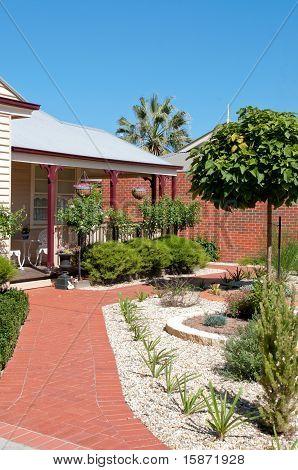 House Garden Of Shrubs