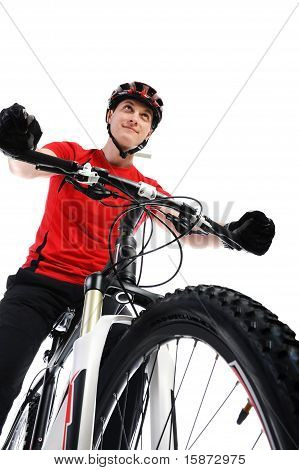 portrait of a cyclist