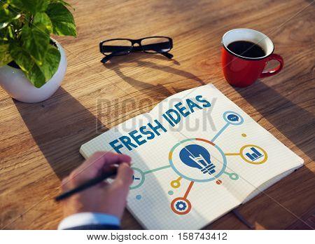 Ideas Development Icons Word Concept