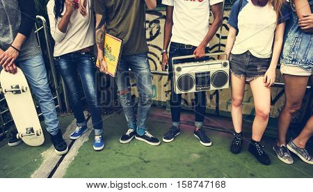 Teenagers Lifestyle Casual Culture Youth Style Concept
