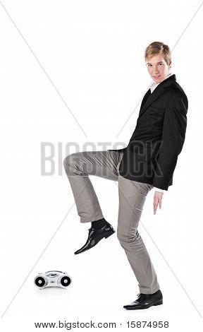 Dancing young man