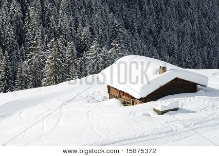 chalet in the winter
