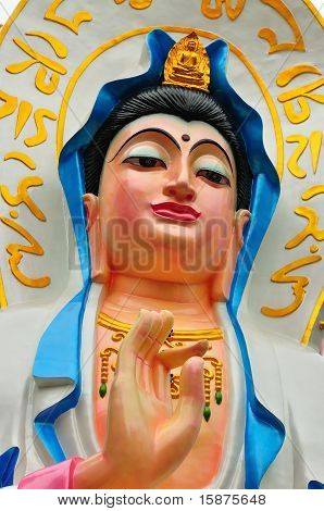 Face Of Guan Yin Buddha Statue