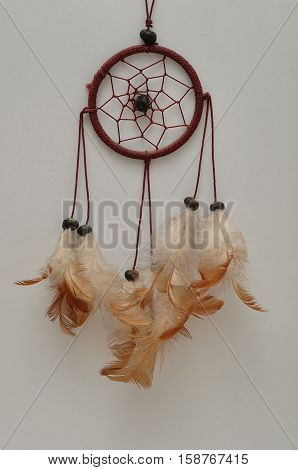 A dream catcher isolated on a white background