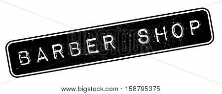 Barber Shop Rubber Stamp