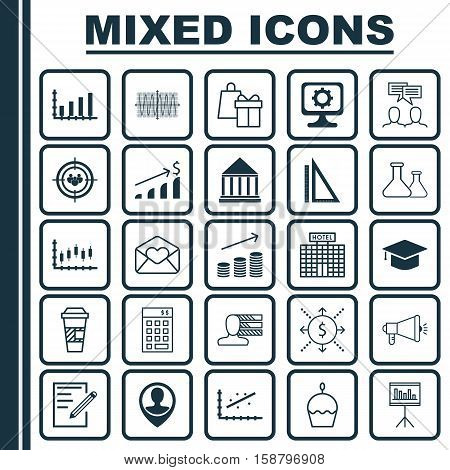 Set Of 25 Universal Editable Icons. Can Be Used For Web, Mobile And App Design. Includes Icons Such As Focus Group, Media Campaign, Personal Skills And More.
