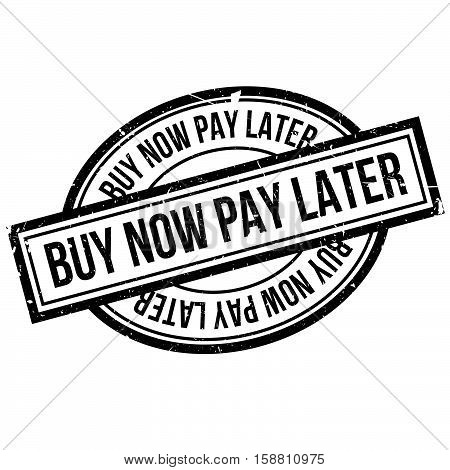 Buy Now Pay Later Rubber Stamp