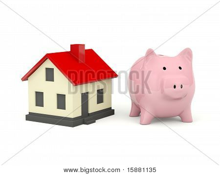 Piggy Bank with home