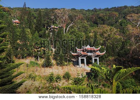 Temple of Nirvana Buddha on Ta Cu mountain Linh Son Truong Tho temple at Phan Thiet, Binh Thuan province, Vietnam
